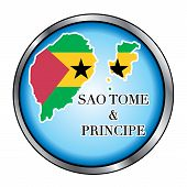 Sao Tome And Principe Round Button