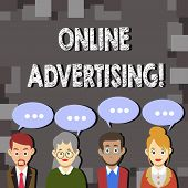 Writing Note Showing Online Advertising. Business Photo Showcasing Website Campaigns Ads Electronic  poster