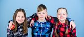 Eat Fruit And Be Healthy. Group Teenagers Hold Apples. Healthy Lifestyle. Boy And Girls Friends In S poster
