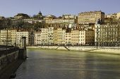 France; Lyon Or Lyons: View Of The Old  District Near The Saone River