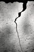 Crack At Cement Wall