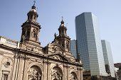 La Plaza de armas de Santiago do Chile