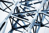 Steel Structure Of Constructed  Frames