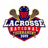Lacrosse American Sports Badge Logo Tournament, Template Vector. poster