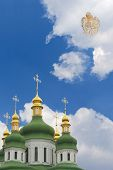 Angel Above domes of Orthodox Church