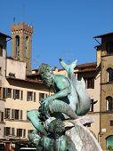 Fountain of Neptune in the Piazza della Signoria Florence
