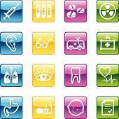 Iconos de medicina Aqua
