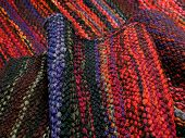 picture of loom  - Handmade wool fabric weaving on the loom - JPG