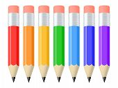 Set Of Colorful Pencils. Vector Illustration