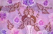 Purple Floral Kebaya