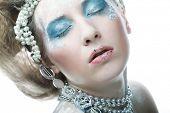 Holiday Make-up.Beautiful Woman's Face