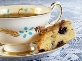 Blueberry Scone & Tea