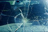 The Broken Windshield In The Car Accident