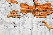 Brick Wall At Ancient City