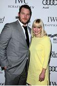 LOS ANGELES - OCT 20:  Chris Pratt, Anna Faris arrives at  the