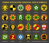 foto of biohazard symbol  - Zombie Apocalypse Essential Sign  - JPG