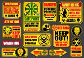 Zombie Apocalypse Signs & Billboards