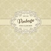 Vintage background with damask pattern