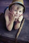 stock photo of playtime  - Cute little boy - JPG