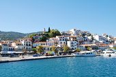 SKIATHOS, GREECE - SEPTEMBER 21: The harbour at Skiathos Town on September 21, 2012 on Skiathos isla