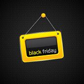 Black Friday glossy yellow sign