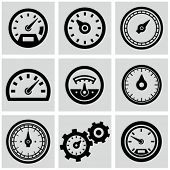 stock photo of barometer  - Meter icons set - JPG