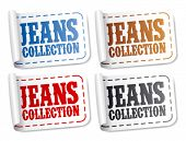 Jeans collection stickers set