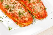 Aubergines with parmesan cheese