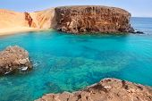 pic of papagayo  - Lanzarote El Papagayo Playa Beach in Canary Islands - JPG