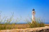 La Savina Sabina lighthouse in formentera at Balearic Islands