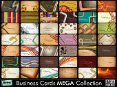 Mega collection of 42 abstract professional and designer business cards or visiting cards on diffren