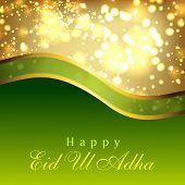 Greeting card for Eid Ul Adha festival. EPS 10.