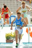 BARCELONA - JULY, 13: Italo Quazzola of Italy during 3000m steeplechase event the 20th World Junior