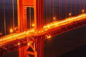 Golden Gate Brücke Detail. San Francisco, Kalifornien.