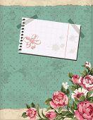 Abstract Elegance Vintage polka dot card. Retro decor illustration.