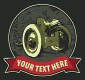 Vintage t-shirt design with cannon