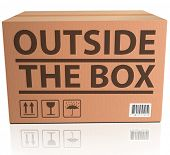 Outside the Box innovation, unconventional and creative thinking in solving a problem or brainstormi