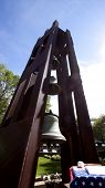 STIRLING, NJ-SEPT 11: Shrine of St Joseph 911 memorial made of steel salvaged from the North Tower of the World Trade Center and bells from a Virginia seminary on September 11, 2012 in Stirling, NJ.