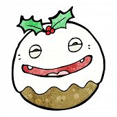 crazy christmas pudding cartoon