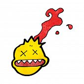 cabeza de bala de dibujos animados