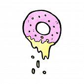 cartoon doughnut