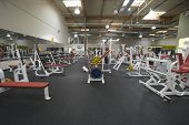 Interior view of a gym with equipment