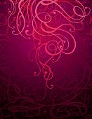 Maroon Abstract Ornament Background