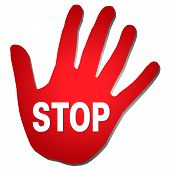 Red Hand Stop
