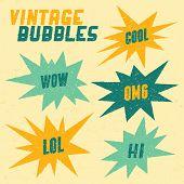 Coleção retrô bolhas