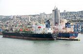 Haifa, Israel - MAY 19 - Ships and views of the city from the sea Haifa, 2013