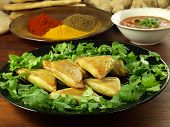 stock photo of sag  - Indian appetizer - JPG