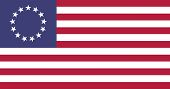 USA Betsy Ross Flat Flagge