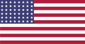 stock photo of iwo  - Illustration of a Flat US 48 star flag of the period 1912 - JPG