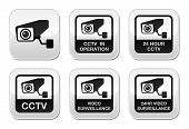 CCTV camera, Video surveillance knoppen set